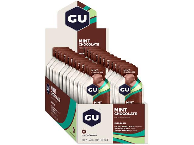 GU Energy Gel Box 24x32g, Mint Chocolate (2019) | Energy gels